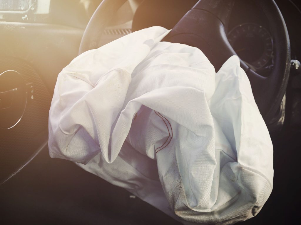 Picture of Deployed Air Bag After Accident