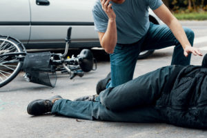 Bicycle Accident Lawyer in Washington DC helping an injured victim