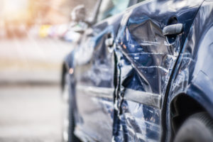 DC hit and run accident damaged car