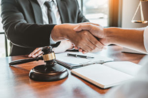 washington dc car accident lawyer helping a client
